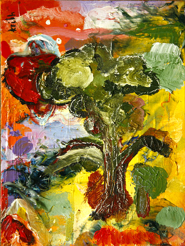 "'tree .38′ 16 x 12"", acrylic on canvas   SOLD"