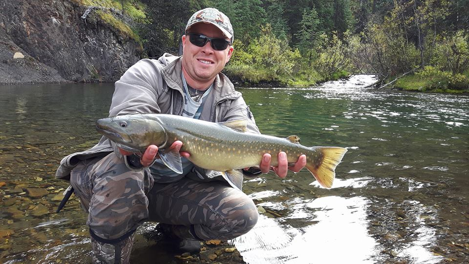 First ever Bull Trout for a very happy fisherman.