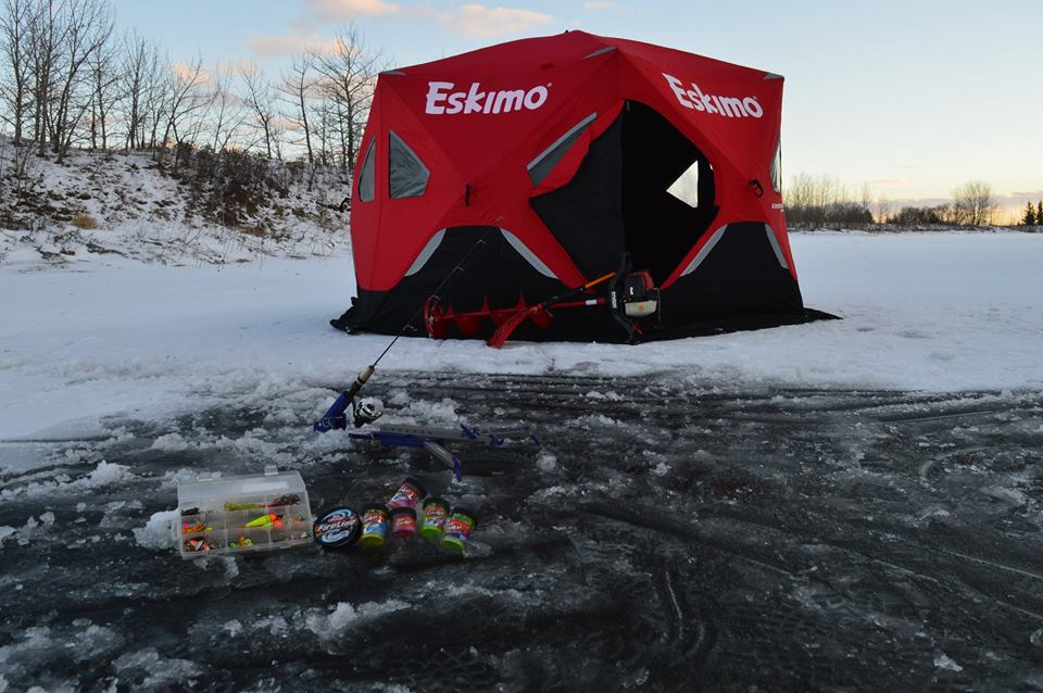 "Mobile ice tent, 10"" ice auger, propane heat, shovel, rods, reels, basic tackle, and a sled for it to all go in start at $125/day. Easily the most cost effective way to give ice fishing a try and enjoy it."
