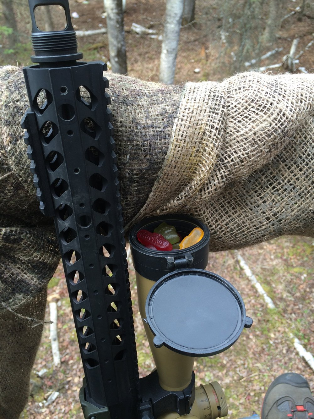 A supplemental bait/snack storage compartment built into this  bullpup rifle round it out nicely.