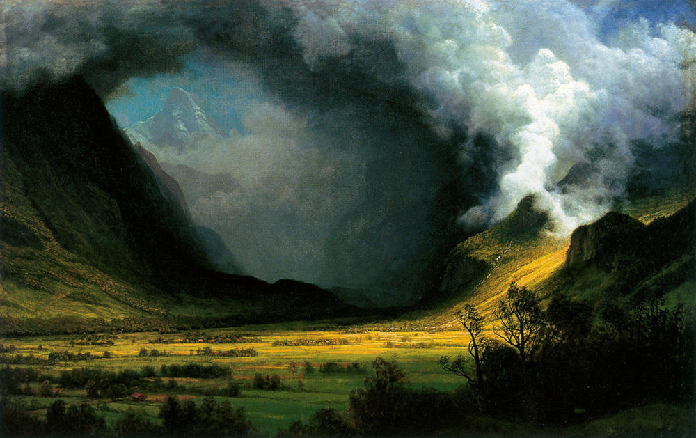 Albert Bierstadt, Storm in the Mountains, ca. 1870, Museum of Fine Arts, Boston.