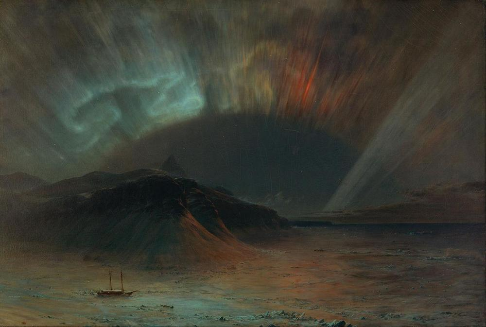 Frederic Edwin Church, Aurora Borealis, ca. 1865, Smithsonian American Art Museum, Washington, DC.
