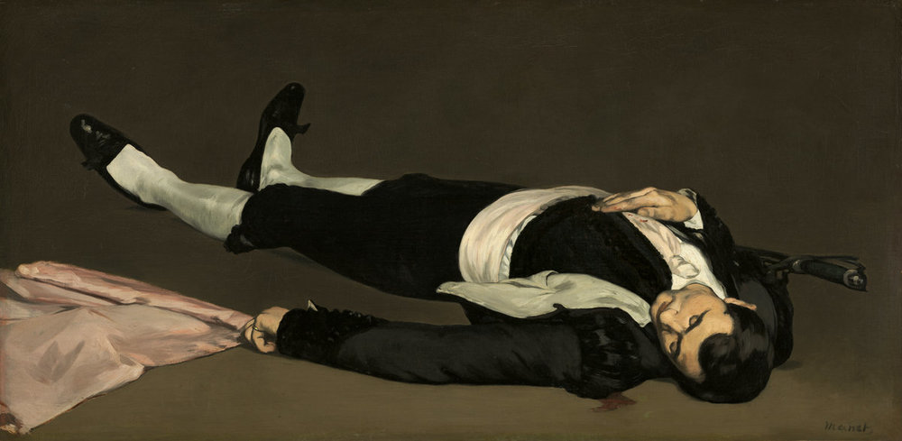 Edouard Manet,  The Dead Toreador , probably 1864 (National Gallery of Art, Washington, DC)/ Image from  NGA Images