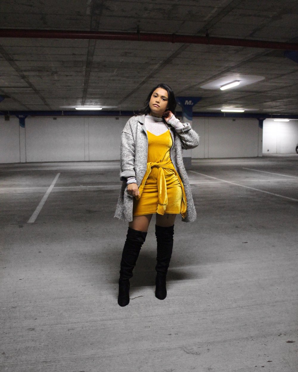 Outfit Details: Dress - MRP, Jacket - Made by my Mom, Top - Revolt, coat -  Topshop and boots - Edgars