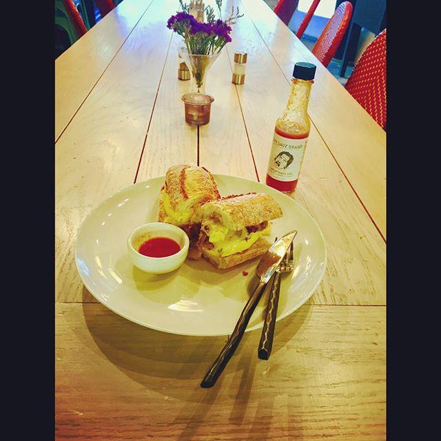 PST Breakfast Sandwich... Toasted Baguette | Eggs | Black Forest Ham |  Adirondack Cheddar Cheese #breakfast #foodart #foodporn #foodnetwork #foodandwine #foodstagram #chefs #chefsroll #chefsclub #chefslife #chefstatus #chefsoninstagram #gourmet #gourmetfood #discoveringchefs #foodphotography #truecooks #purplesaigetemptations #lobsterreef #thebestoftheday #fdlmoment @purple_saige_tempations