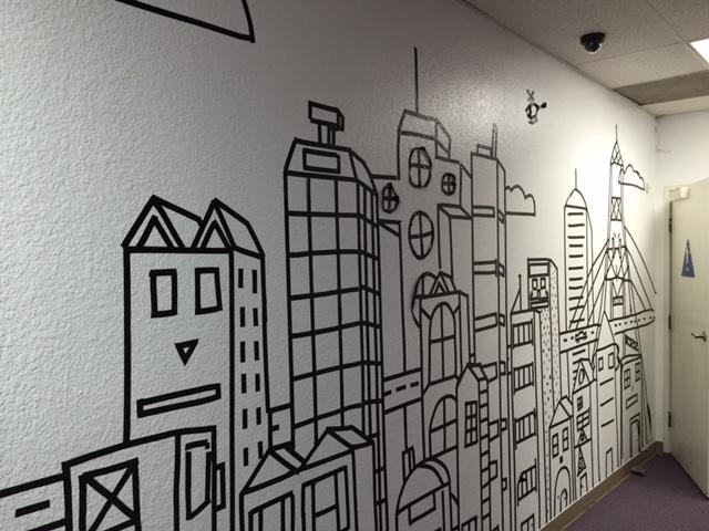 skyline mural creative world art center