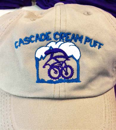 Cream Puff Custom embroidery