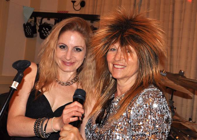 Hannah & guest Lin, dressed as Tina Turner