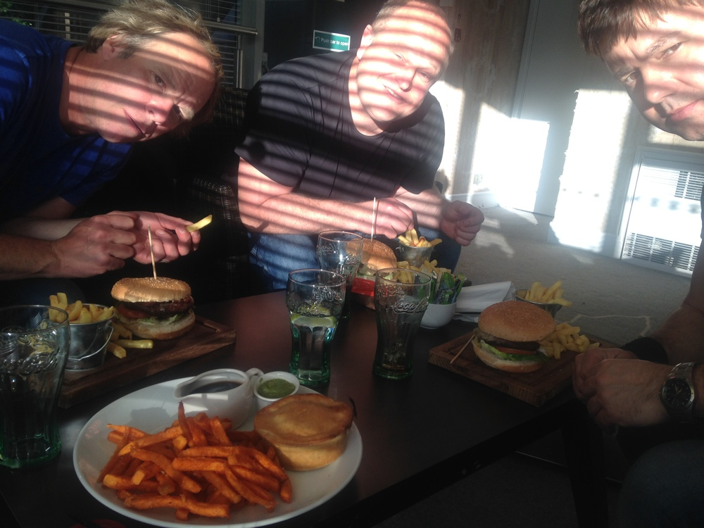 Live Band staple diet... Burger & Chips... Weddings at the Best Western Plus, Epping Forest