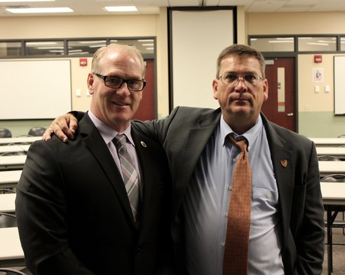 Steve Luce, Exec. Dir. of the ISA & Michael Dorn, World Leading Expert in Campus Safety.