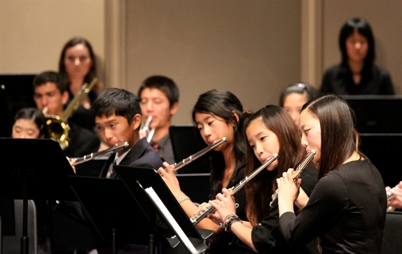 Students in the ECYS Wind Orchestra. Photo permission ECYS.