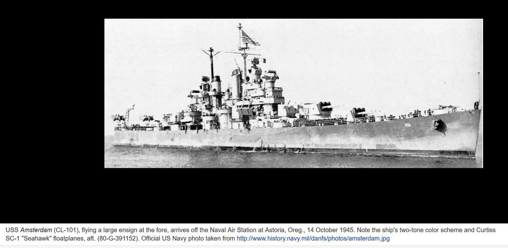 The USS Amsterdam