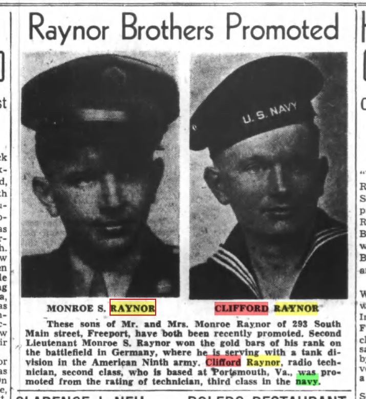 The Raynor brothers, Bob and Dick.