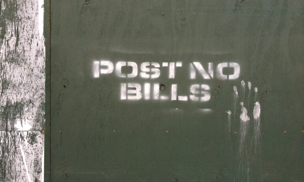 "4. Solo Exhibit  ""POST NO BILLS"""