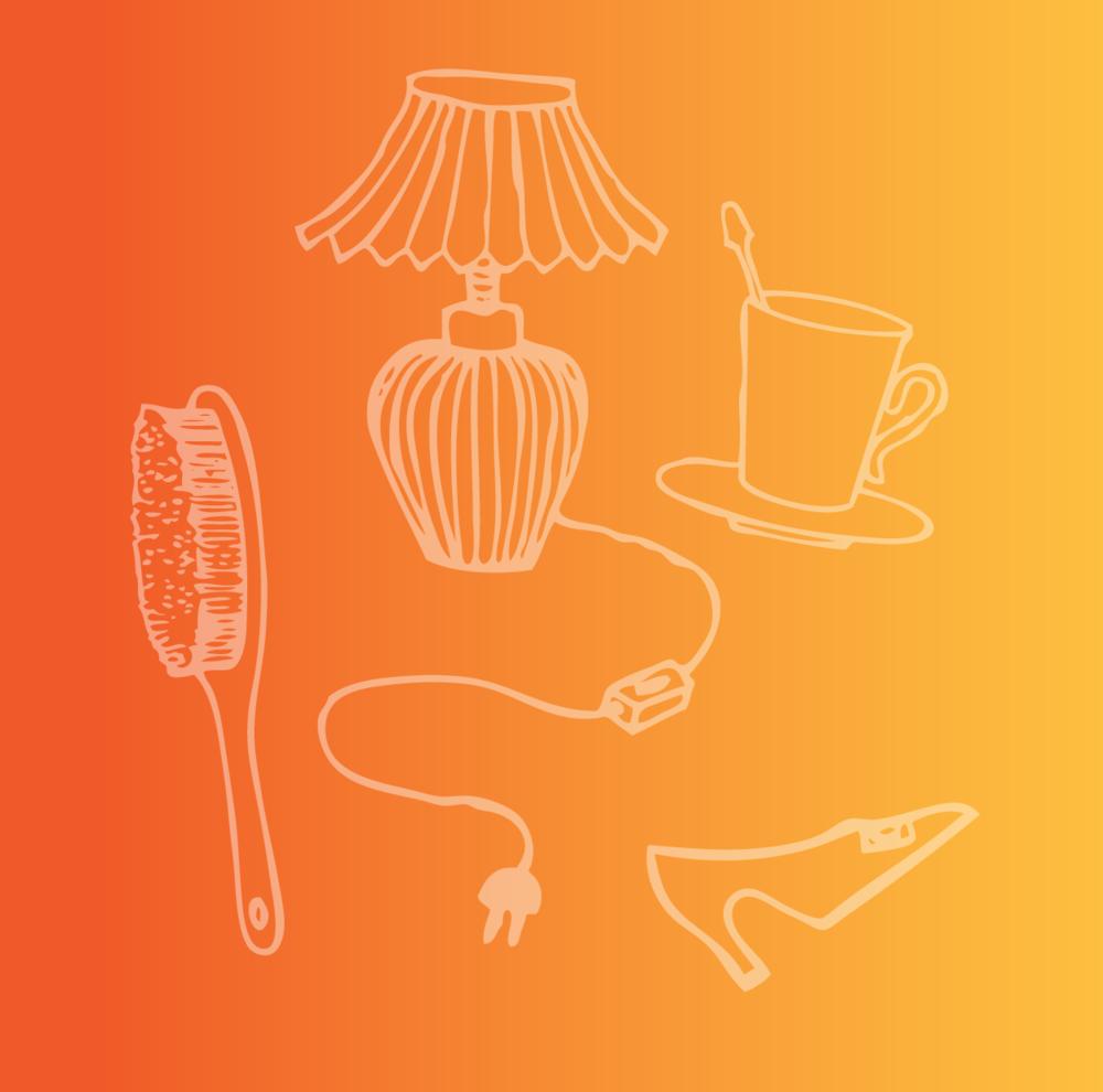 2. - Grab any household item (The more mundane the better)