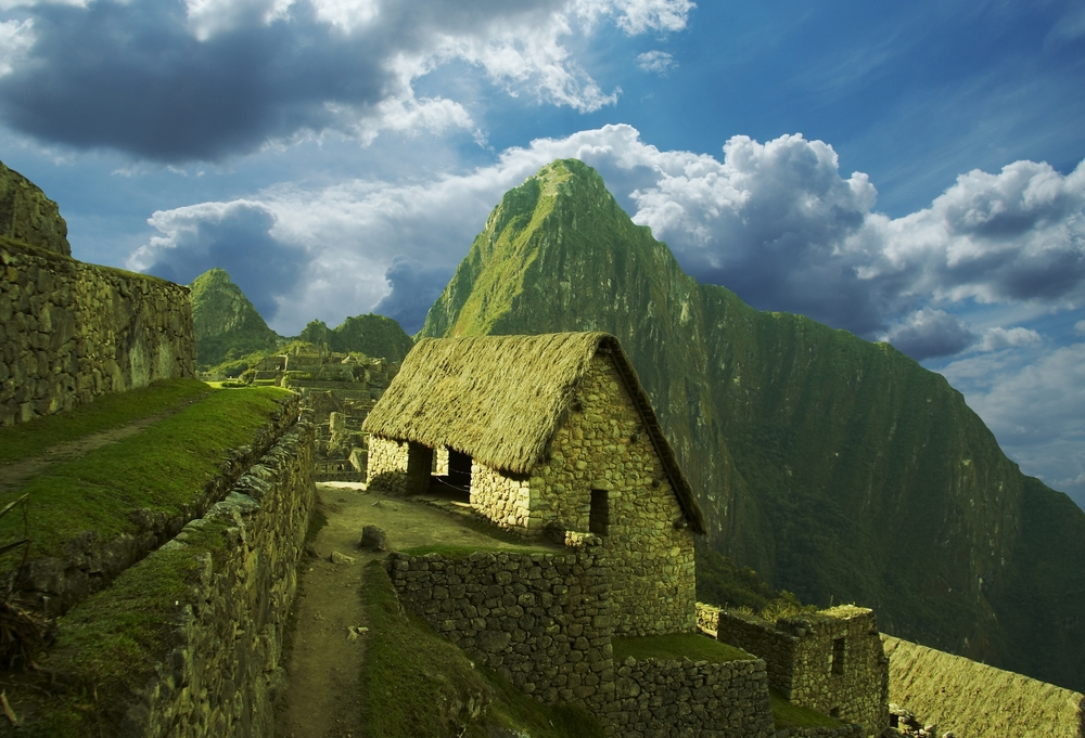 The city Machu-Picchu, Peru.