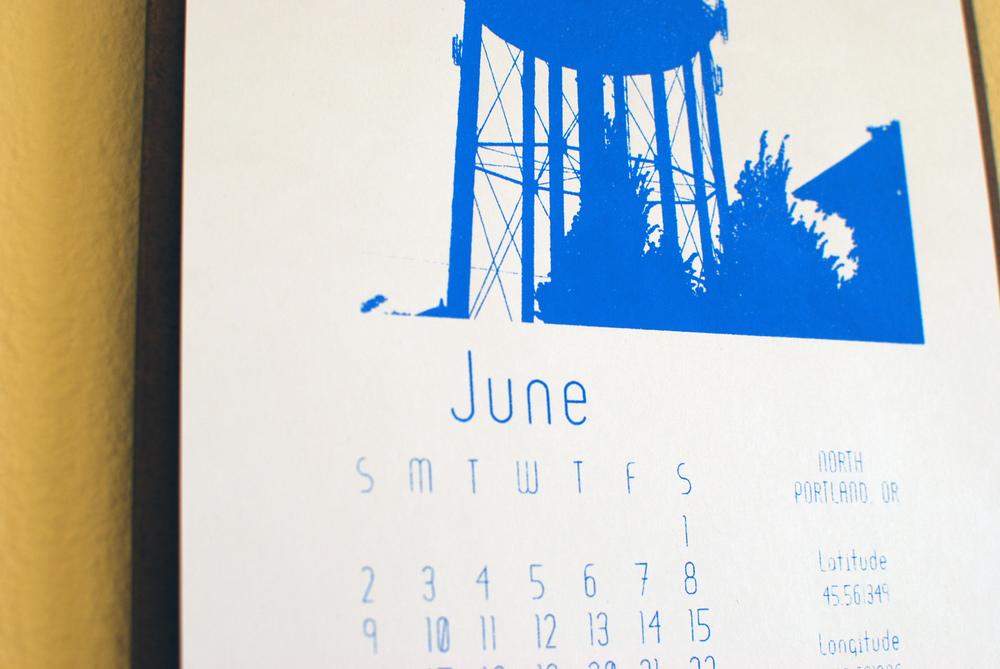 Water Tower Calendar
