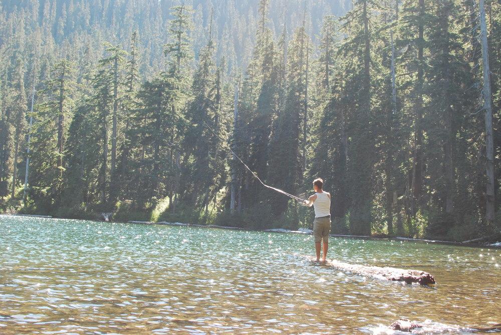 Tom at Soda Peaks Lake