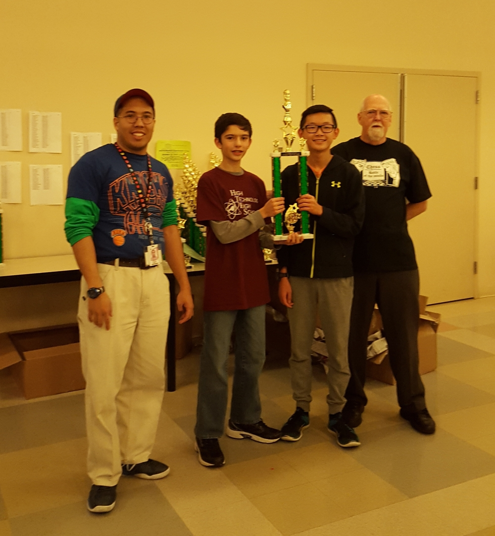 9th Grade State Champions: Andrew Mascillaro, Eric Chai, Nelson Lin (missing)