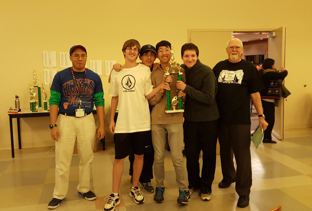 11th Grade State Champions: Philip Meltzer, Jared Braycewski, Christopher Wu, Larry Langman