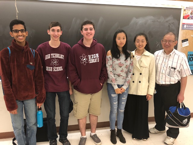 The B Team is Pictured Above: Deepak Gopalakrishnan, Cole Snedeker, Frank Grabowski, Ivy Wang, Selena Liu, and Dr. Eng.