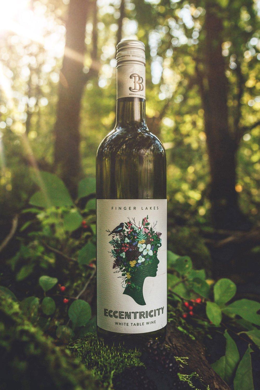 Passion Feet wine called Eccentricity, a semi dry white table wine.