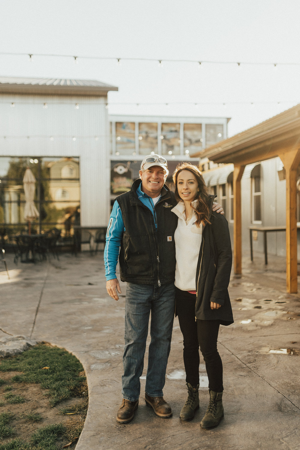 Photo of owner Dave Mansfield and partner Erica Paolicelli. Rachel Liz Photography