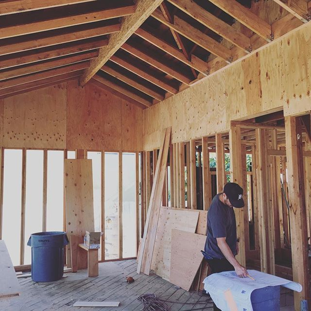 On site in Del Rey today, giving our client a little more head room in the kitchen #renovation #architecture #framing #vaultedceiling #futurekitchen #losangeles #design #farnsworthconstruction