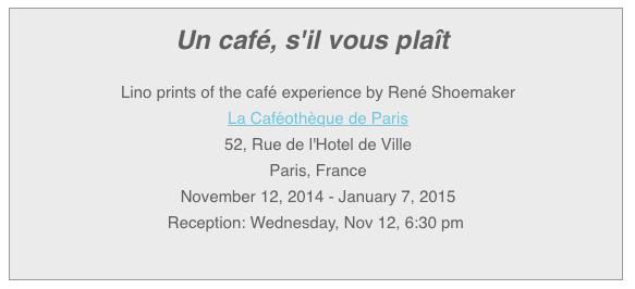 Un Cafe, s'il vous plait