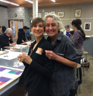 Kristen Miller Zohn (l), former Director of Collections and Exhibitions at the Columbus Museum, and René Shoemaker