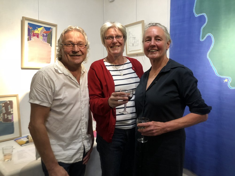 L-R: Thierry Roger, master framer and an expert yarn dyer for the tapestry trade + Nelly, owner of café L'antidote in Aubusson