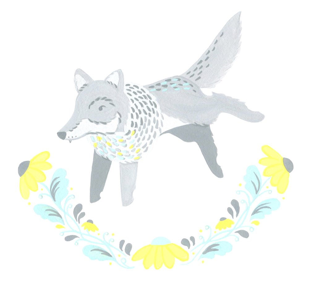 Floral Wolf