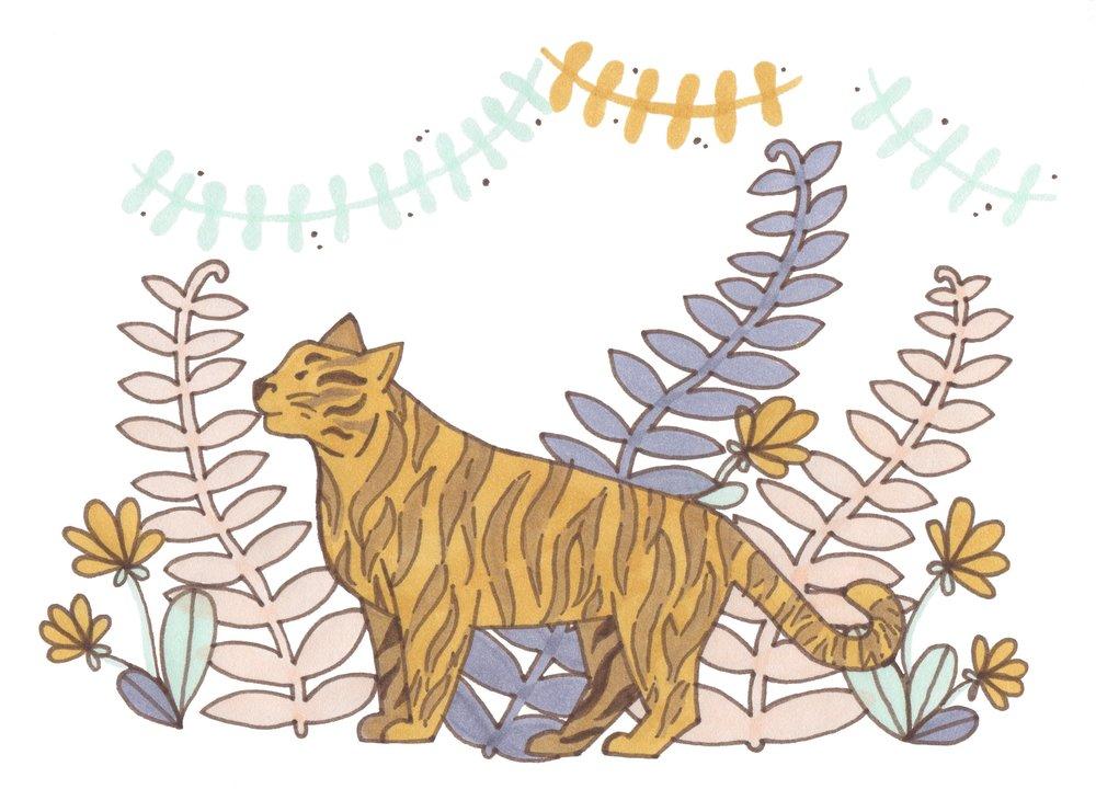 floral tiger