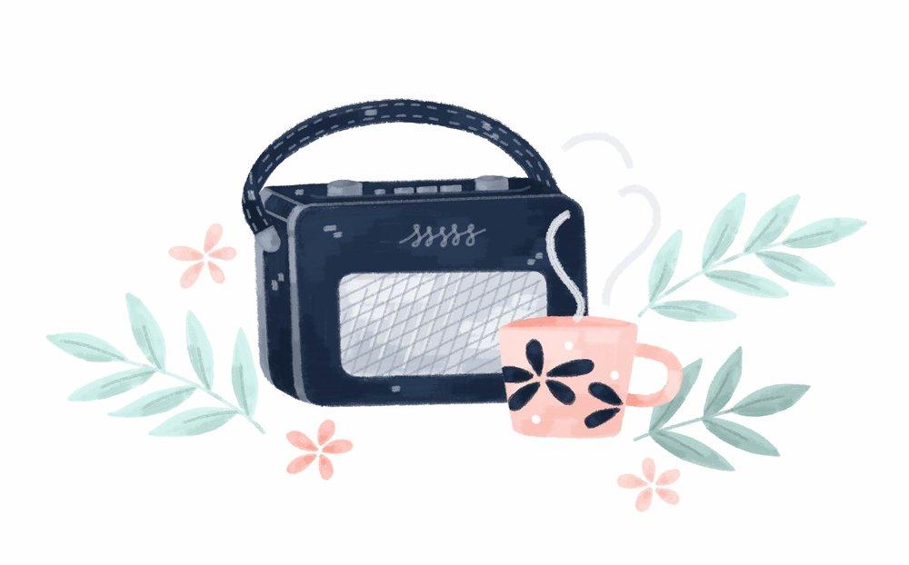 Illustrated roberts radio.