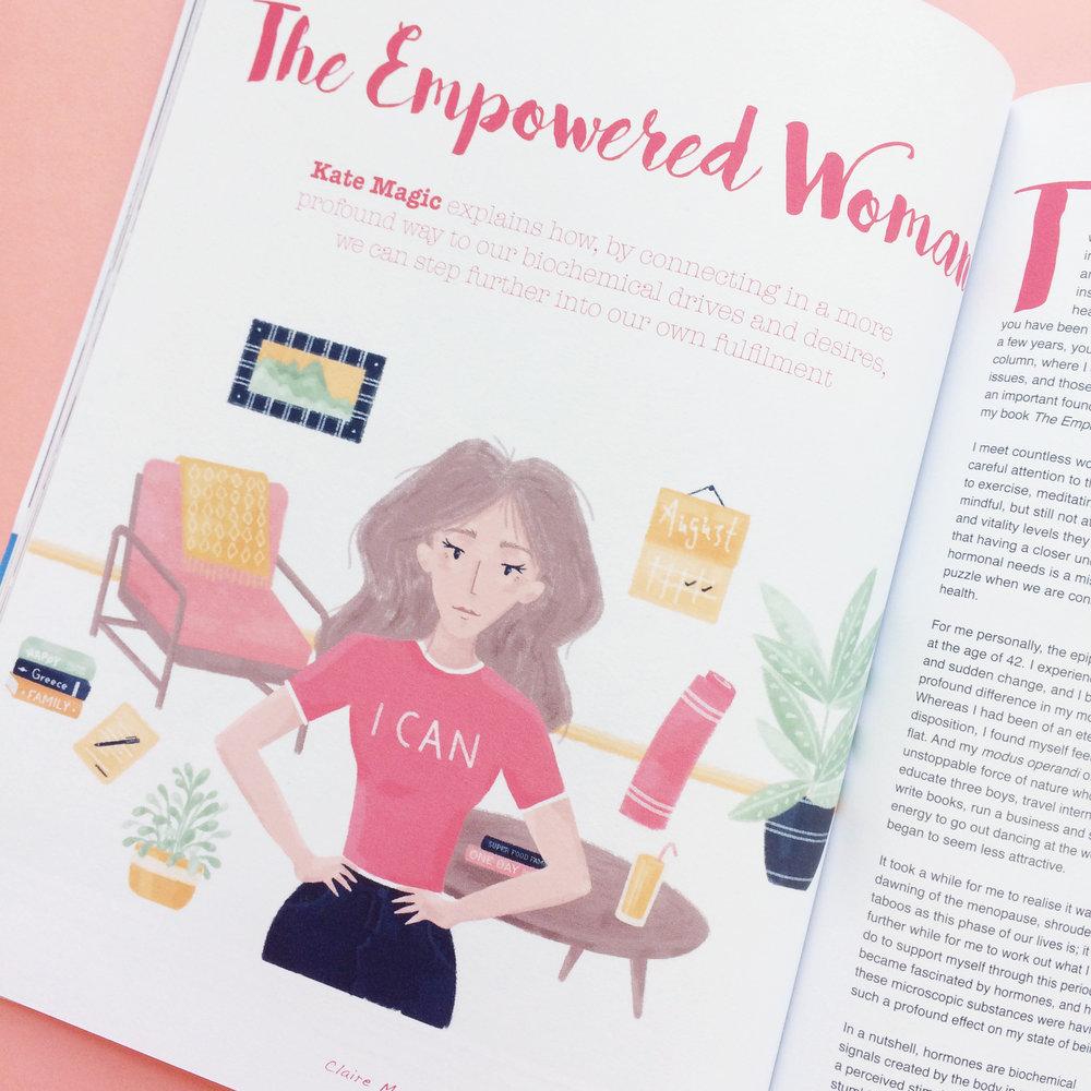 Illustration in Juno Magazine.