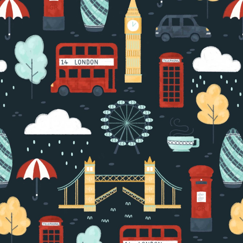 London pattern close up.