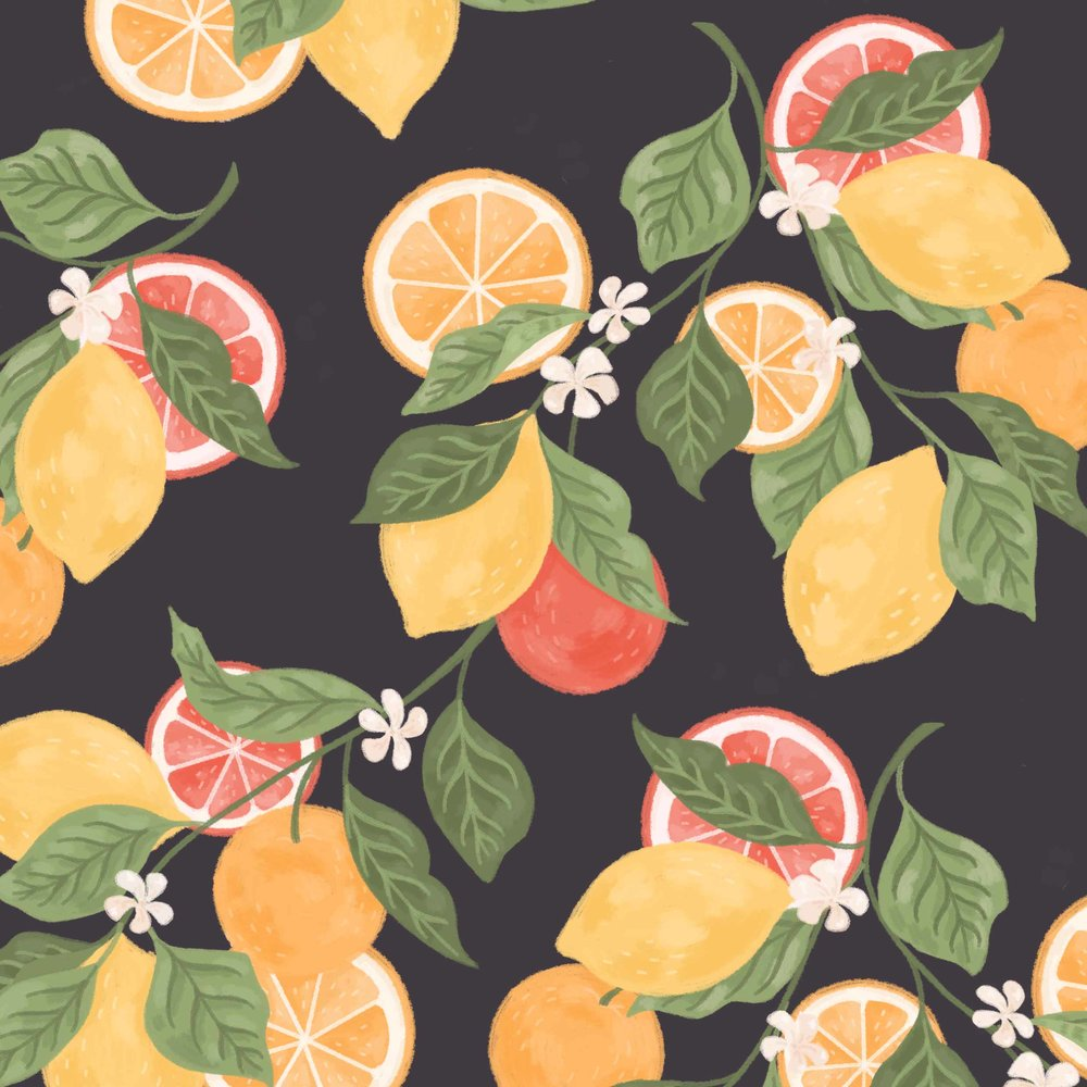 Close up of citrus pattern.