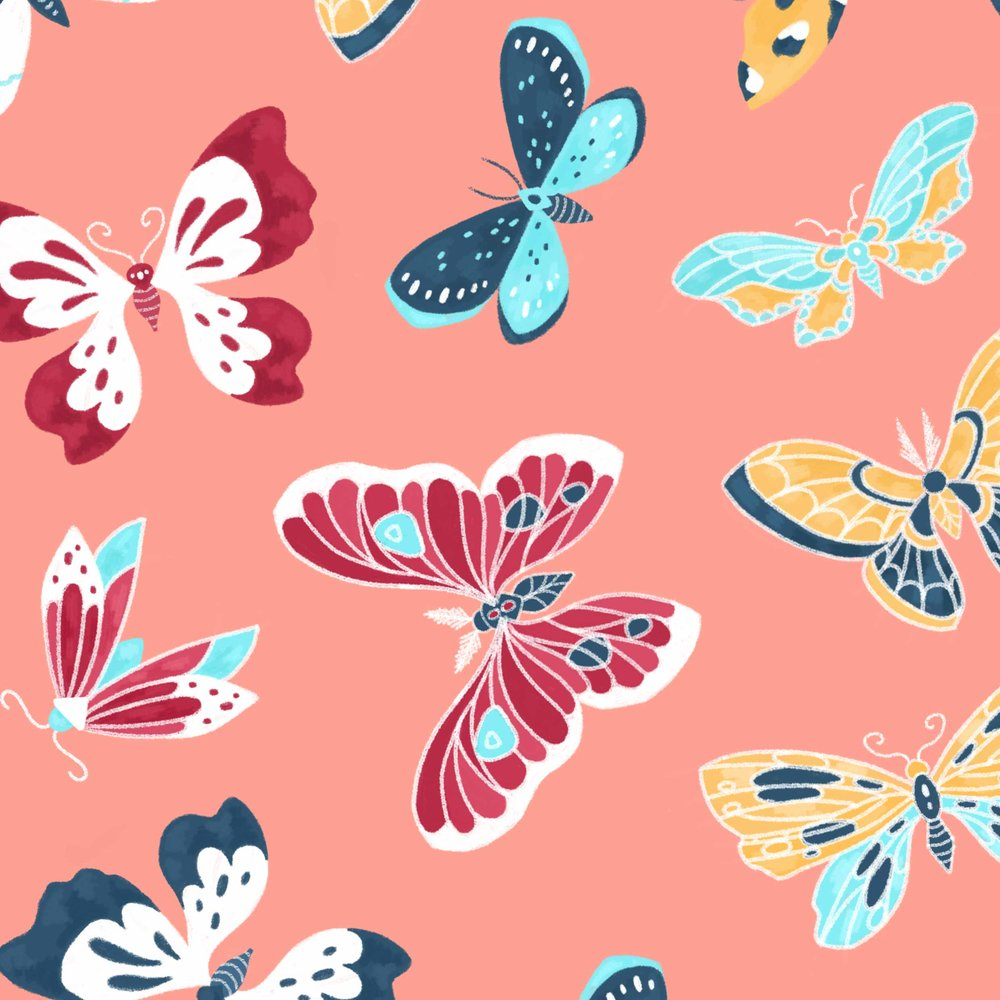 Butterfly pattern close up.