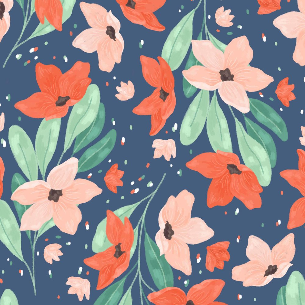Floral pattern close up.