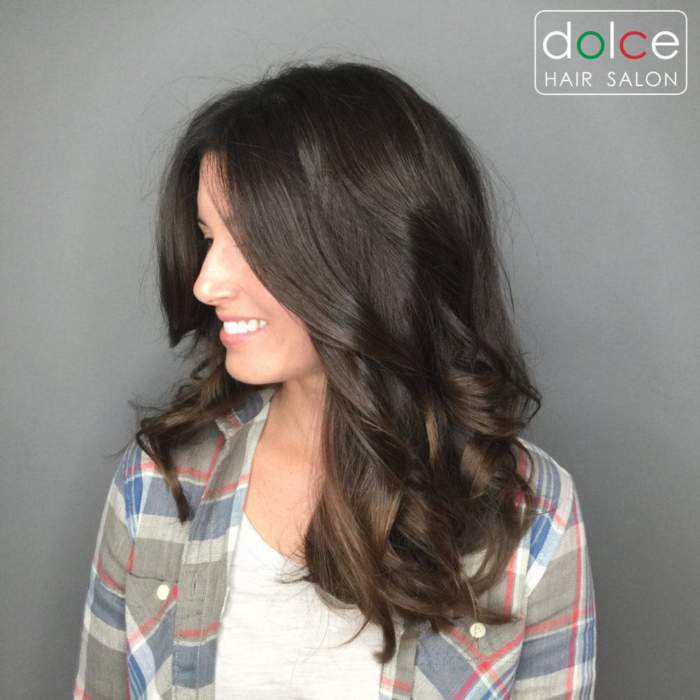 Dolce Hair Salon Pictures Shiny Brunette Color