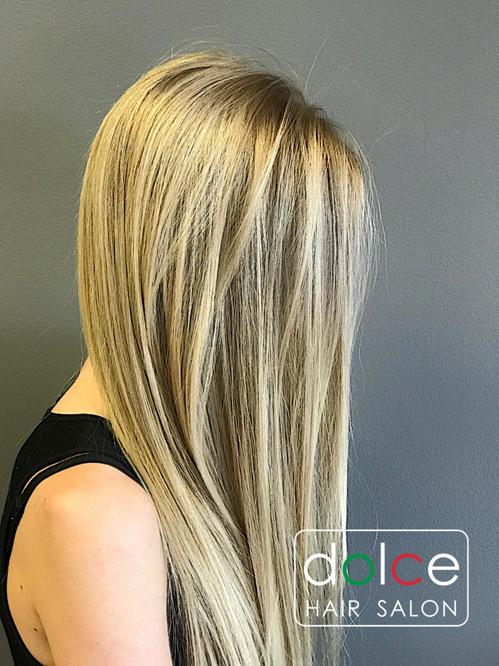 Dolce Hair Salon Pictures natural Shiny Blonde Balayage