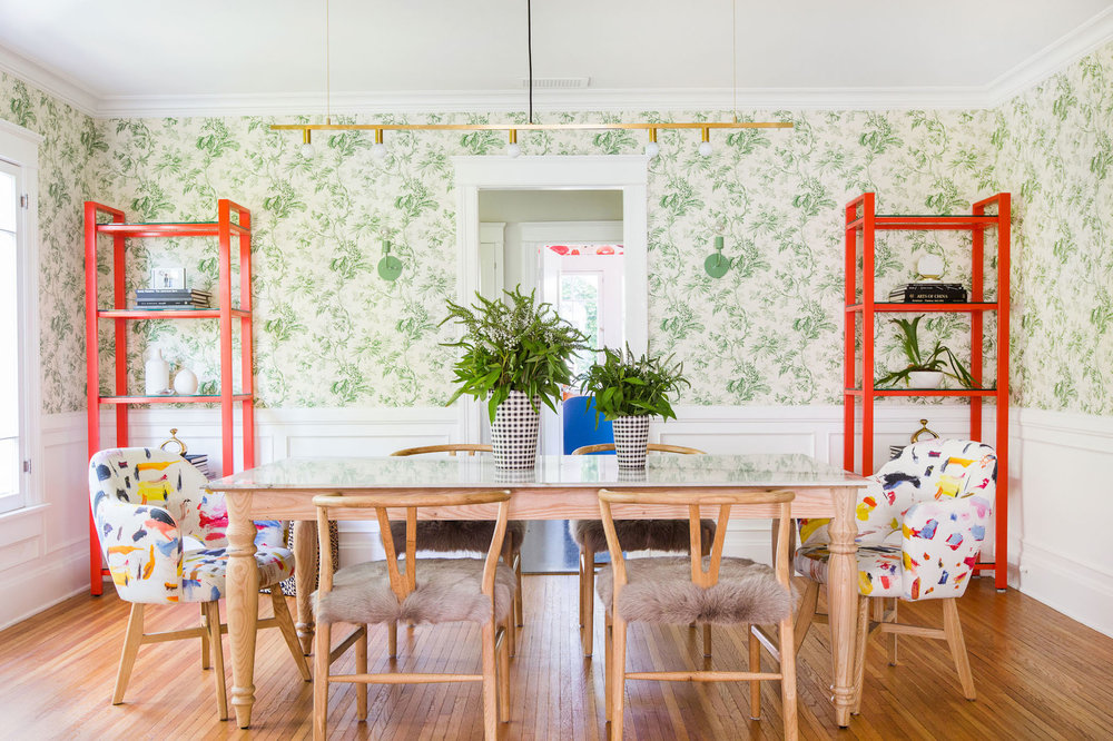 Inside the Colorful Design-Savvy Pad of Lauren Morelli and Samira Wiley - Emily BihlEarlier this year, we found ourselves furiously pinning inspo pics from the confetti-themed wedding of Orange Is the New Black star Samira Wiley and writer Lauren Morelli. It wasn't until we saw their home, though, that we realized just how bold their personal style really is. Homepolish designer Stefani Stein, who loves to create fun, playful spaces, was tapped by the newlyweds to help them realize their eclectic design dreams. Check out the result — a stunning mix of unexpected patterns and bright colors