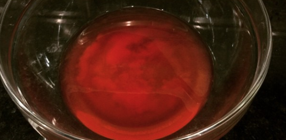 Tomato Juice Starting to Separate from its Suspended Particles