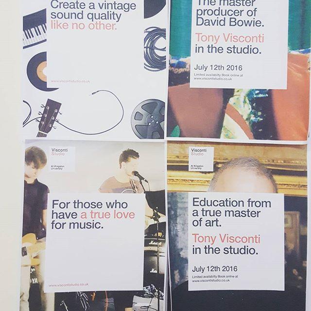 Todays work #musicstudio #branding #frostcreative