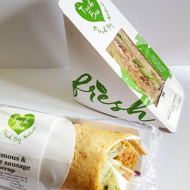Sandwich packaging has arrived #branding #frostcreative #tuckbox #fresh #packaging