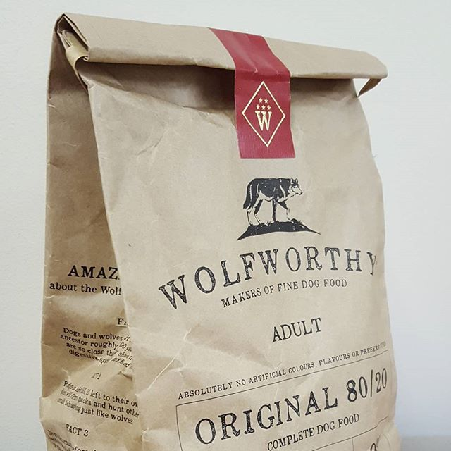 Wolfworthy packaging I was recently part of making #frostcreative #dieline #wolfworthy #foiling #branding #dogfood
