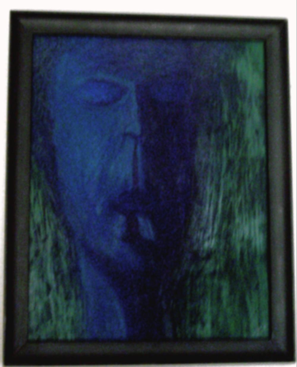 "Self Image in Oil: 18"" x 24"" oil on cardboard, 2003"
