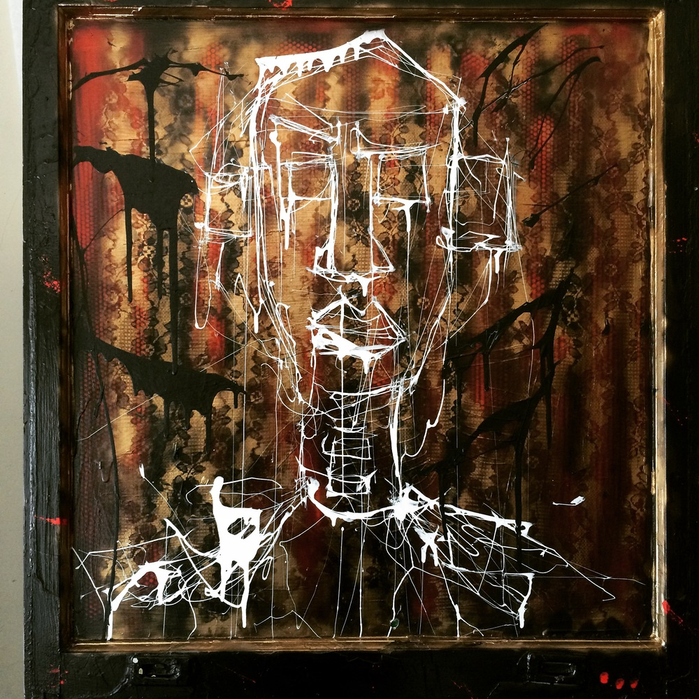 Pride, 3'x3' mixed media on glass