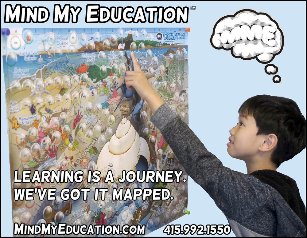 Mind My Education CoreAtlas Grade 3 Undersea map