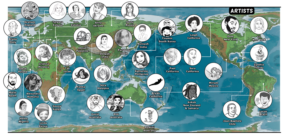 MME_CoreAtlas - Artists from around the world - MAP